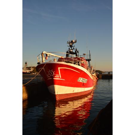 ©Christophe Le Falher-LBST - Bateau de pêche amarré au port de Keroman
