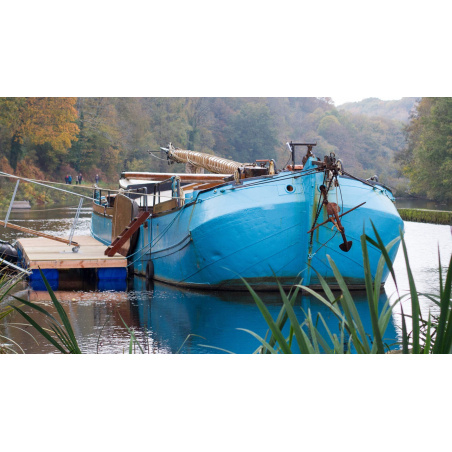 ©Thomas Deregnieaux-LBST - Le Tjalk amarré sur le canal du Blavet