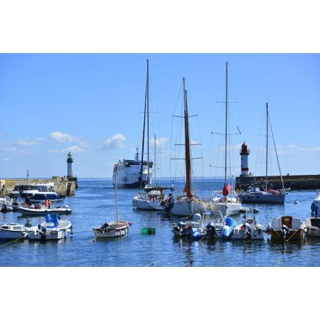 ©Emmanuel Lemée - LBST - Arrivée du bateau passagers dans le port de Groix