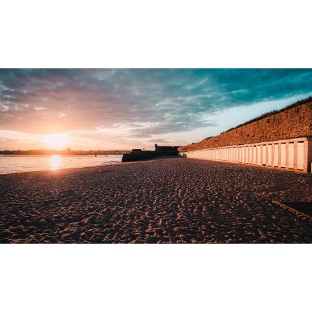 ©Lezbroz-LBST - Coucher de soleil sur la plage de Port-Louis