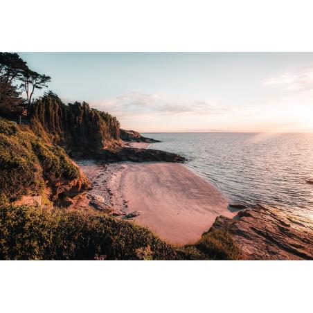 ©Lezbroz-LBST - Coucher de soleil sur une plage de Groix