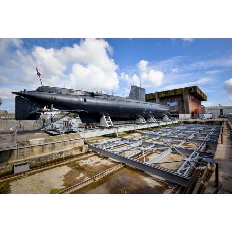 ©Emmanuel Lemée-LBST  - Le sous-marin Flore à Lorient, La Base