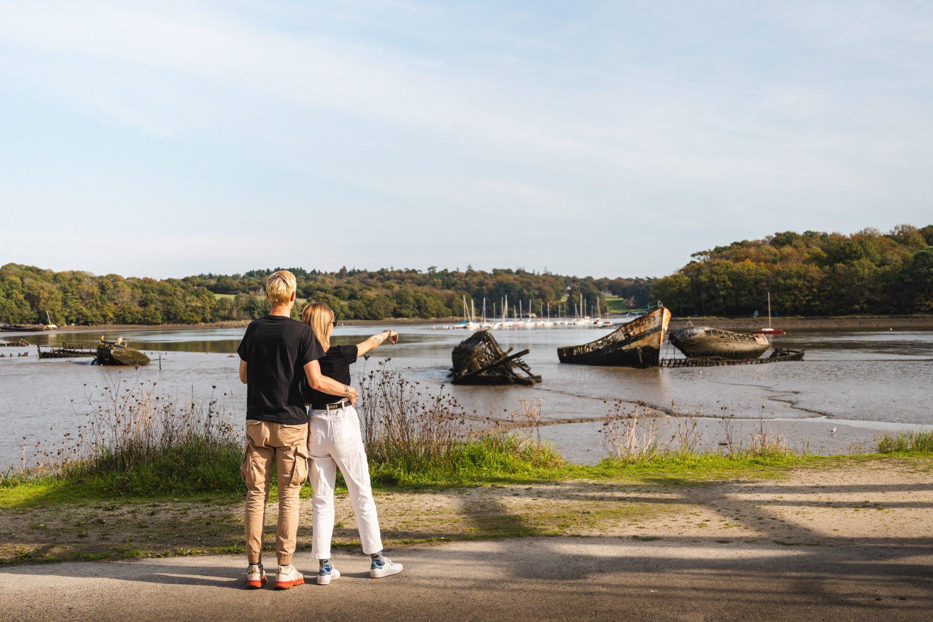 ©Tony Esnault-LBST - Le cimetière de bateaux de Kerhervy à Lanester